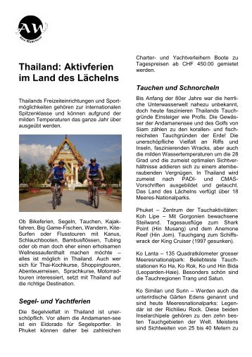 Thailand Aktivferien - Asia Workshop