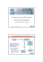 Présentation INERIS [pdf] - Environnement-Industrie