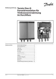 Fernwärmestation für Trinkwassererwärmung im Durchfluss