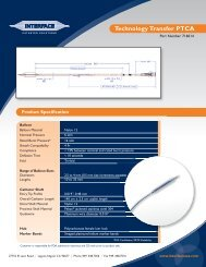 Product Specification - Interface Catheter Solutions