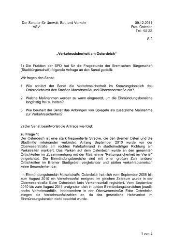 Verkehrssicherheit am Oster - Bremen