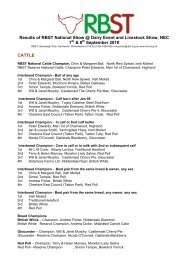 Results of RBST National Show @ Dairy Event and Livestock Show ...