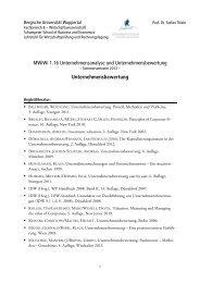 Literaturhinweise und Gliederung der Vorlesung - Prof. Dr. Stefan ...