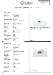 Leuchtmittel E27 - LED-Schönberger