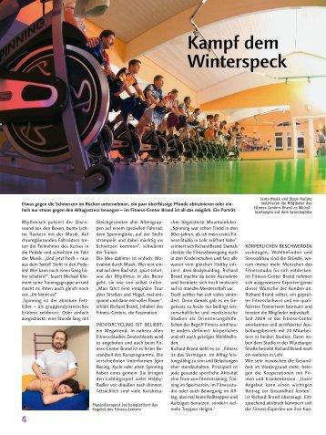 Kampf dem Winterspeck - Fitness-Center Brand
