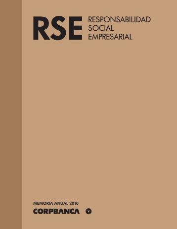 Reporte de Sustentabilidad 2010 - Corpbanca