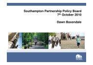 Presentation by Dawn Baxendale - Southampton Connect