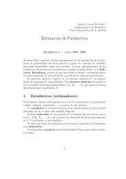 Distribuciones en el muestreo y EMV - Universidad Carlos III de ...