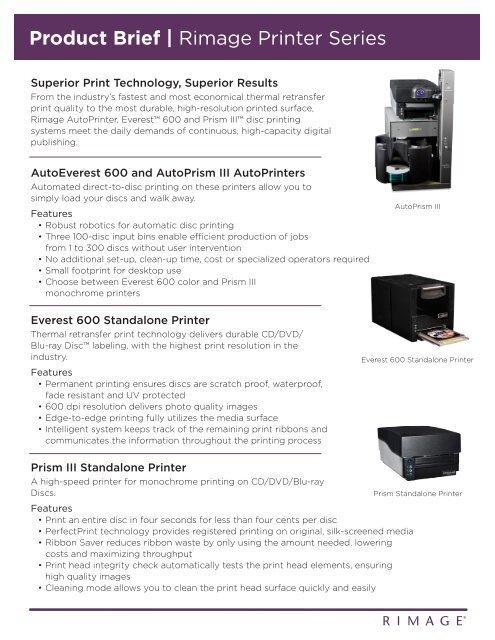 Rimage Everest 600 pdf - AVD