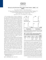 B(BO)2 - and B(BO) - American Chemical Society Publications