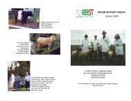 Winter 2008 News letter - RBST Devon