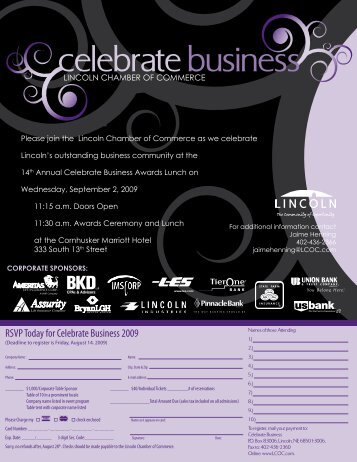 celebratebusiness - Lincoln Chamber of Commerce