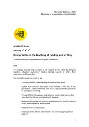 Best practice in the teaching of reading and writing - Dyslexia ...