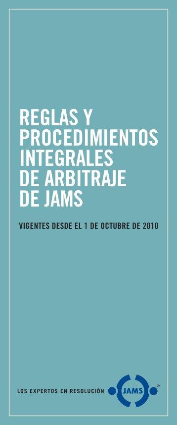 REGLAS Y PROCEDIMIENTOS INTEGRALES DE ... - Jams