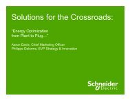 Solutions for the Crossroads: - Schneider Electric