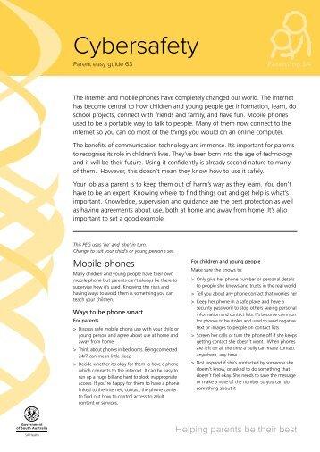 Cybersafety - Parent Easy Guide (PEG) - Parenting SA - Sa.gov.au