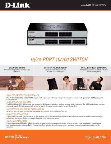 16/24-port 10/100 switch - D-Link