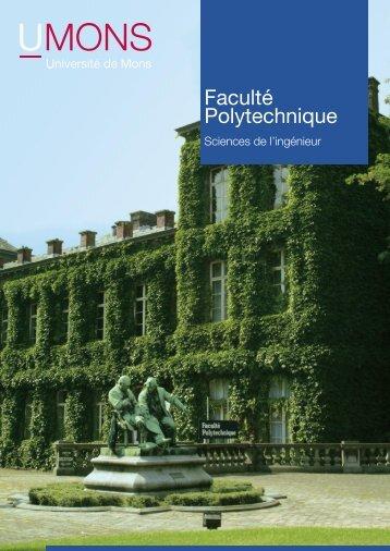 Table des matières Faculté Polytechnique - Université de Mons