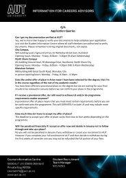 AUT Application Queries