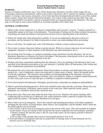 chemistry safety contract Chemistry and biochemistry safety  hygiene plans byu hygiene plan  department of chemistry and biochemistry hygiene plan lab safety.