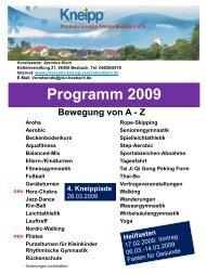 ab 10 Jahre - Priessnitz-Kneipp-Verein Bexbach