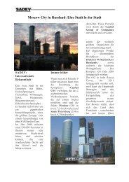 Moscow City in Russland: Eine Stadt in der Stadt