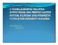 Disediakan oleh: Rohaya Ali - Open University Malaysia