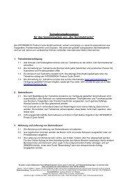 Teilnahmebedingungen