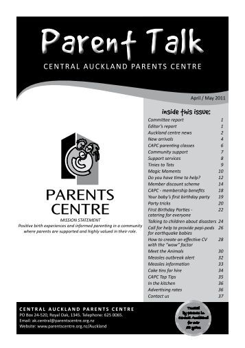 CENTRAL - Parents Centres New Zealand Inc