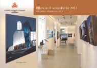 Bilancio di sostenibilità 2010 - Consorzio cooperative costruzioni