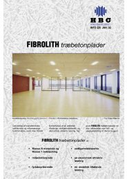 FIBROLITH træbetonplader - Moland