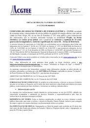 EDITAL DE PREGÃO - cgtee