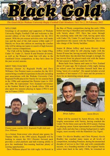 Newsletter 2 - UoW Sport