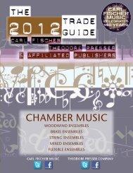 Chamber Music Catalog - the Theodore Presser Company