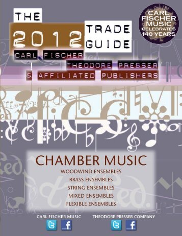 Chamber Music Catalog - the Theodore Presser Company