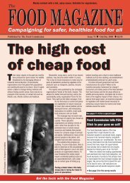 Food Magazine - The Food Commission