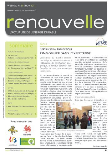 Renouvelle n° 38 - APERe
