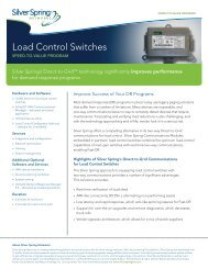 Load Control Switches - Silver Spring Networks