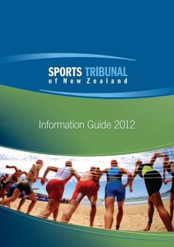 Information Guide 2012 - Sports Tribunal of New Zealand