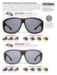 Cocoons Sunglass Sizing Guide - Cocoons Eyewear