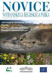 Novice Notranjskega regijskega parka - Presihajoče Cerkniško jezero