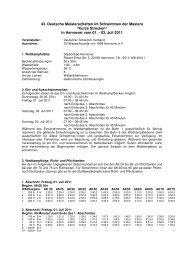 Ausschreibung 2-2011 - Masters in Berlin