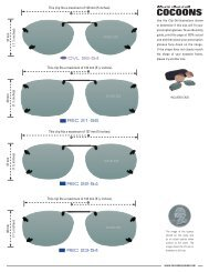 Cocoons Rimless Clip-Ons Sizing Guide - Cocoons Eyewear