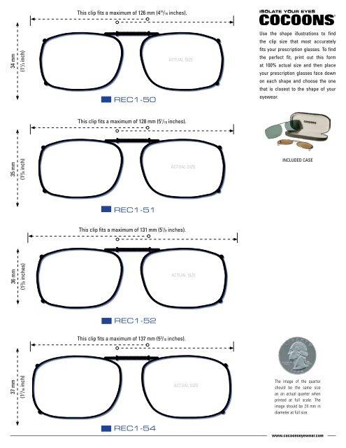 Sizing Guide - Cocoons Eyewear