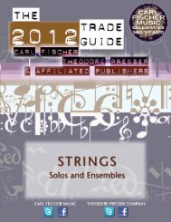 STRINGS - the Theodore Presser Company