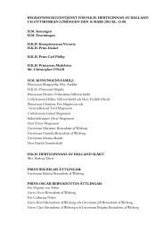 lista på närvarande vid begravningsgudstjänsten - Sveriges Kungahus