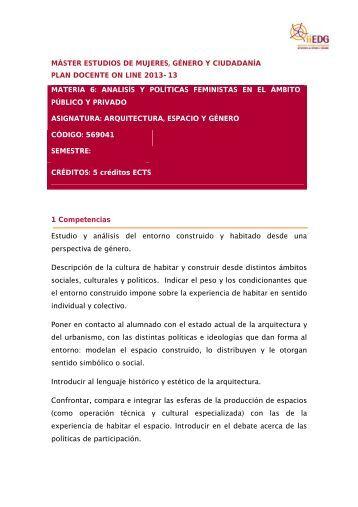 Arq esp ON CAST - Institut Interuniversitari d'Estudis de Dones i ...