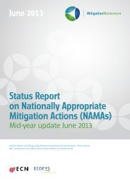 Status Report on Nationally Appropriate ... - SEA Change CoP