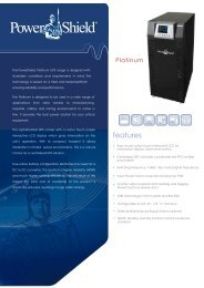 PowerShield Platinum UPS Brochure