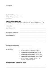 Antrag auf Ehrung - Kreissportbund Märkisch Oderland